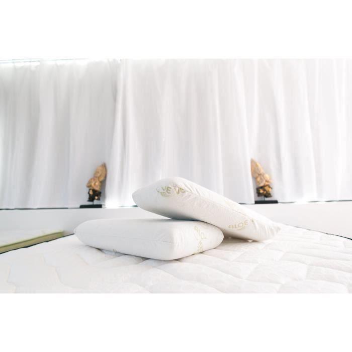 Oreiller Cervical Ergonomique en M/émoire de Forme Haute Densit/é Sarah /& Ma/ël Oreiller Ergo Smell 35x60 cm Huiles essentielles Aloe Vera