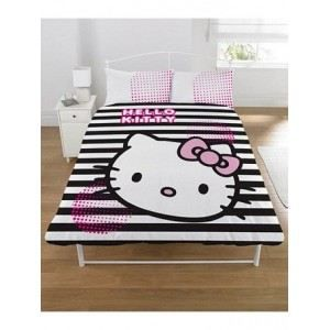 housse de couette hello kitty graphic 2 places achat. Black Bedroom Furniture Sets. Home Design Ideas
