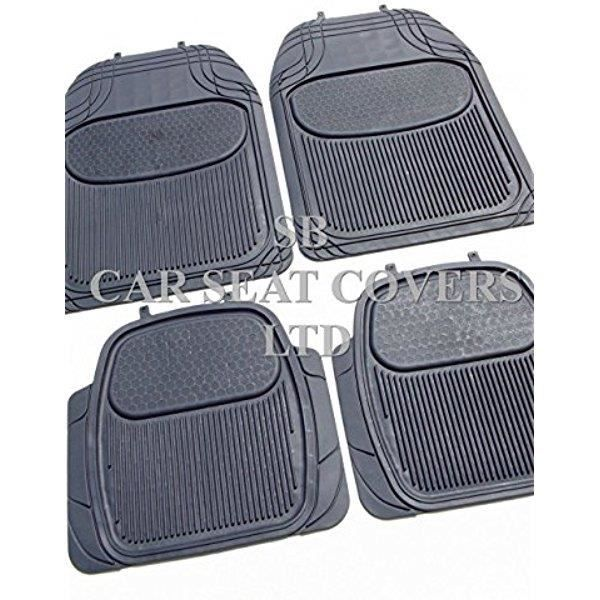 fiat panda 4x4 noir pvc tapis de sol set 4 pi ces c4613 achat vente tapis de sol fiat. Black Bedroom Furniture Sets. Home Design Ideas