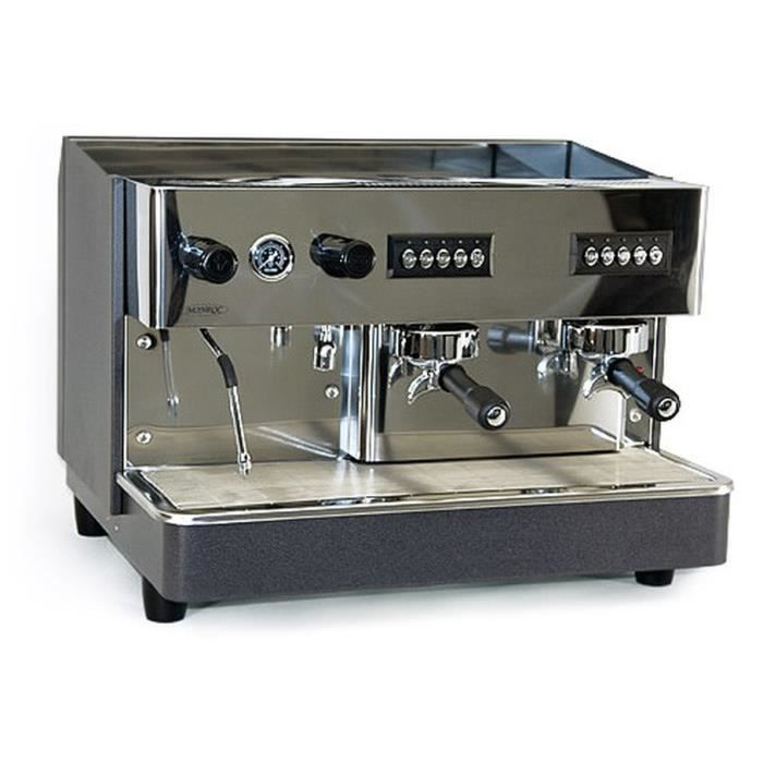 Equipementpro machine caf professionnelle 2 groupes 2900 w 220v - Machine a cafe broyeur ...