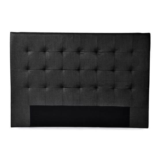 tageco t te de lit 140 tissu noir 140 achat vente t te de lit tageco t te de lit 140 tiss. Black Bedroom Furniture Sets. Home Design Ideas