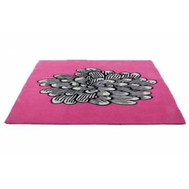 tapis fleur fushia 140x200 achat vente tapis cdiscount. Black Bedroom Furniture Sets. Home Design Ideas