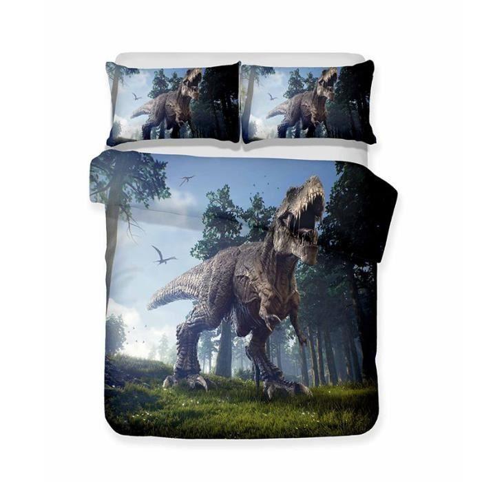 HOUSSE DE COUETTE ET TAIES Jurassic World Jurassic Park Dinosaure Style Parur
