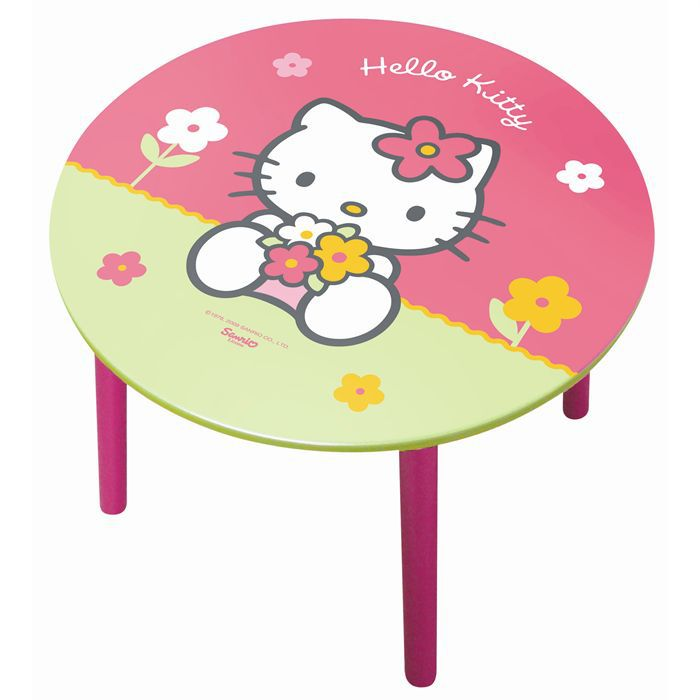 table ronde hello kitty achat vente table jouet d 39 activit cdiscount. Black Bedroom Furniture Sets. Home Design Ideas