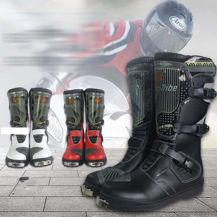 équitation BIKER Chaussures moto longue PRO chaude hommes de professionnelle collision épaisseur de anti bottes moto Nn08wvm