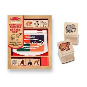 TAMPON DÉCORATIF Wooden Baby Zoo Animals Stamp Set Ensemble de t…