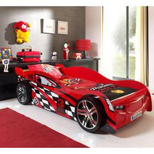 meuble table moderne lit enfant forme voiture. Black Bedroom Furniture Sets. Home Design Ideas