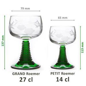 Verre à vin 6 Verres à vin d'Alsace Roemer GRAND modèle 27cl m