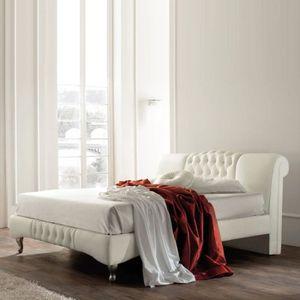 STRUCTURE DE LIT Lit design Sandra - 160x200 - Blanc