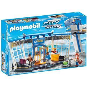 UNIVERS MINIATURE PLAYMOBIL 5338 - City Action - Aéroport avec Tour