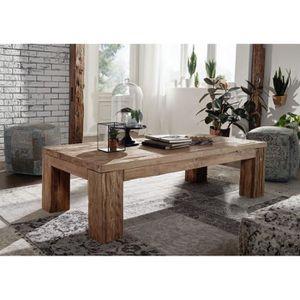 TABLE BASSE Table basse 160x80cm - Bois massif recyclé de teck