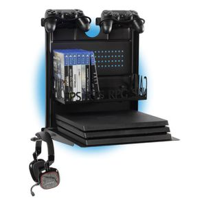 SUPPORT CONSOLE Support mural horizontale PS4 et Xbox - GameSide B