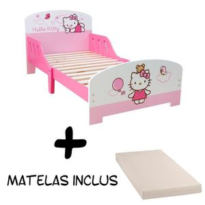 lit enfant fille hello kitty achat vente jeux et jouets pas chers. Black Bedroom Furniture Sets. Home Design Ideas