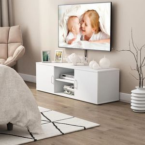 MEUBLE TV LANGRIA Meuble TV (120x40x40cm) avec Étagère ouver