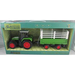 TRACTEUR - CHANTIER jouet Tracteur et remorque musical et lumineux