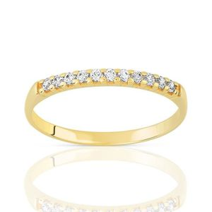 ALLIANCE - SOLITAIRE Alliance en or jaune 18 carats et diamant - Bali