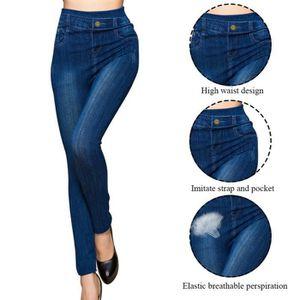 JEANS Skinny Women Stretchy Print jeggings Imitation Jea