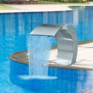 CASCADE - FONTAINE  Fontaine cascade de piscine Acier inoxydable 45 x
