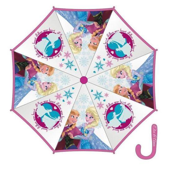 76cm Anna et Olaf Rose fonc/é diam Parapluie enfant fille La reine des neiges Elsa