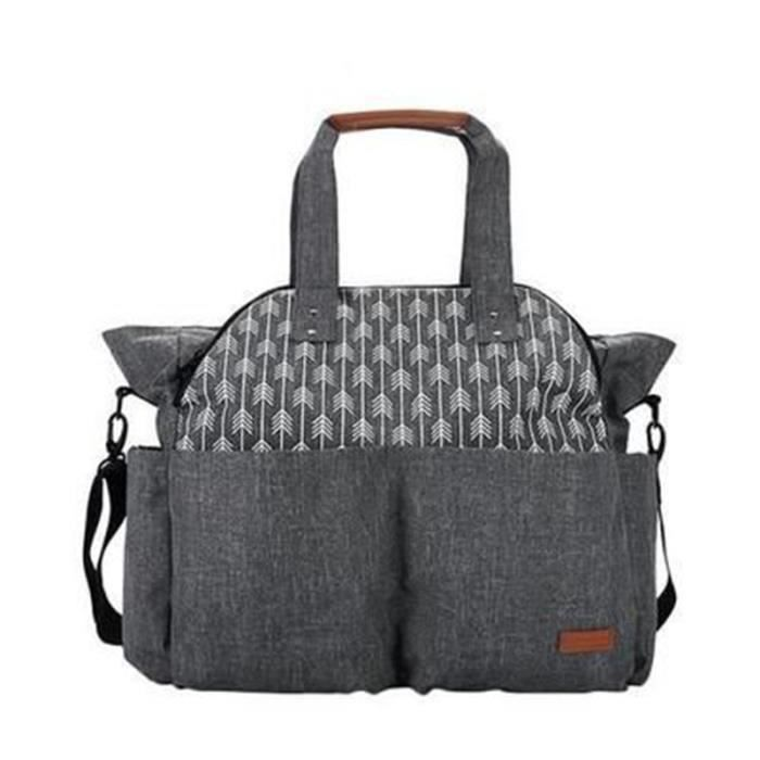 Lekebaby Grand sac à langer pour bébé Convient pour maman et papa (Gris)