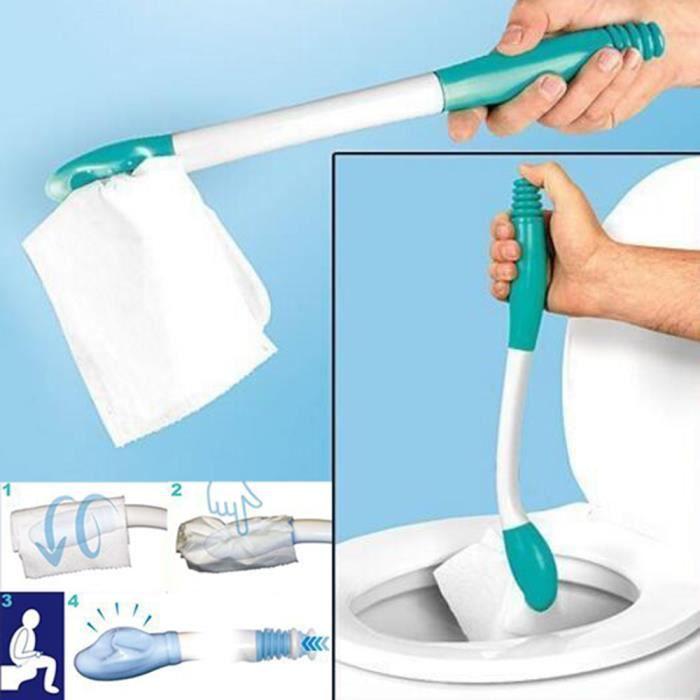 Essuie-fesses en bas Aide à l'incontinence des toilettes Obèses Personnes âgées Handicap Mobilité @duo7498