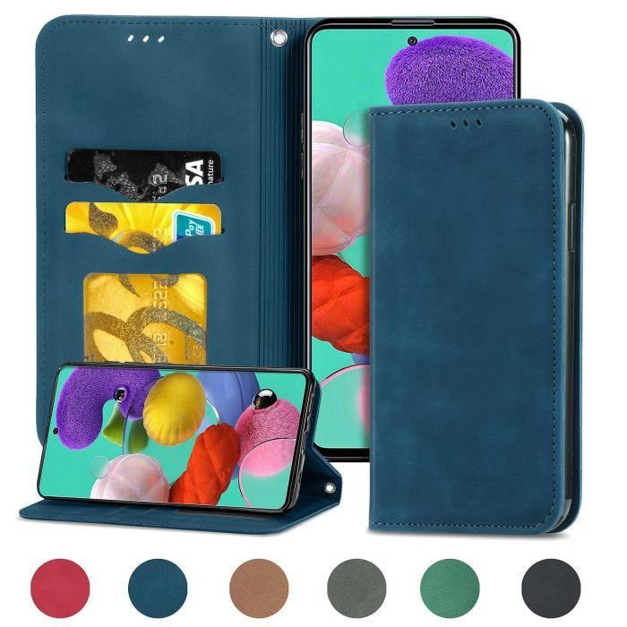 Housse de protection pour Samsung Galaxy Note 20 (Bleu ) type portefeuille (support carte de credit)