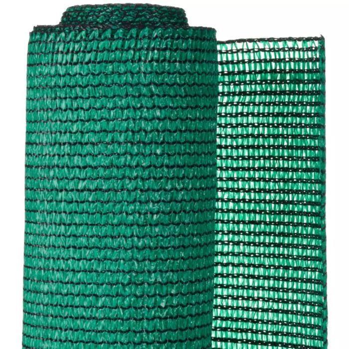 ♫4206 Brise-vue Classique - Clôture Grillage PE 1,5x5 m Vert FNCM®