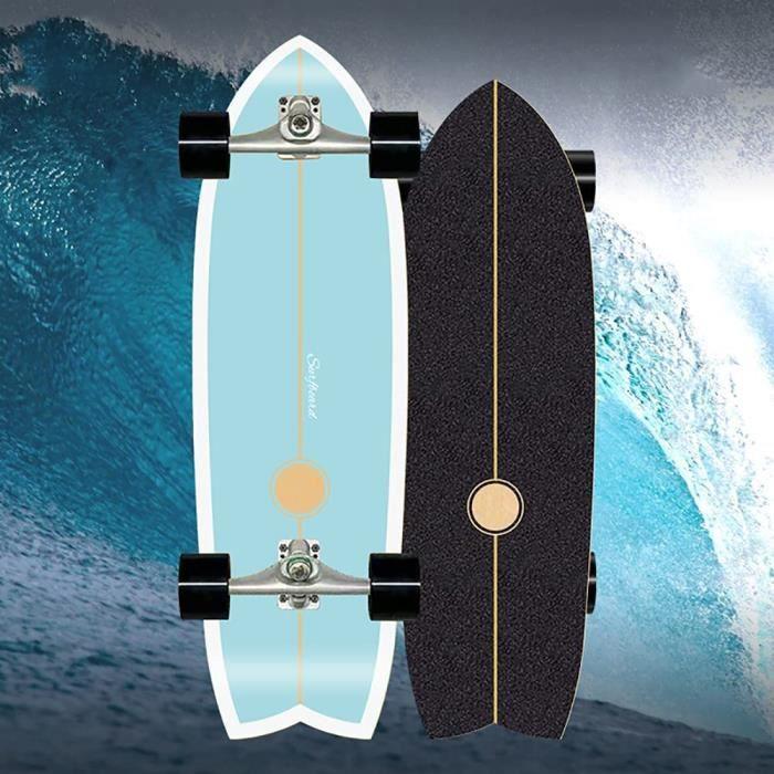 SKATEBOARD Skateboard Les Enfants Land Surfskate Surfboard Street Surfing Skateboard Complet Planche À Roulettes En Boi301