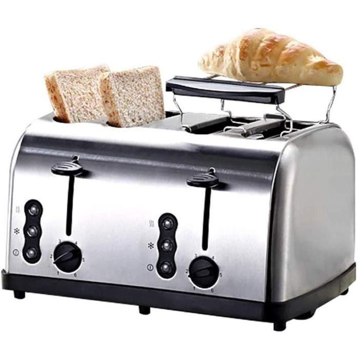 TOASTER YHLZ Grillepain 4 machine tranche de pain Grillepain a 6 Stalls de cuisson et peut ecirctre cuit sur les deux cocircteac1459