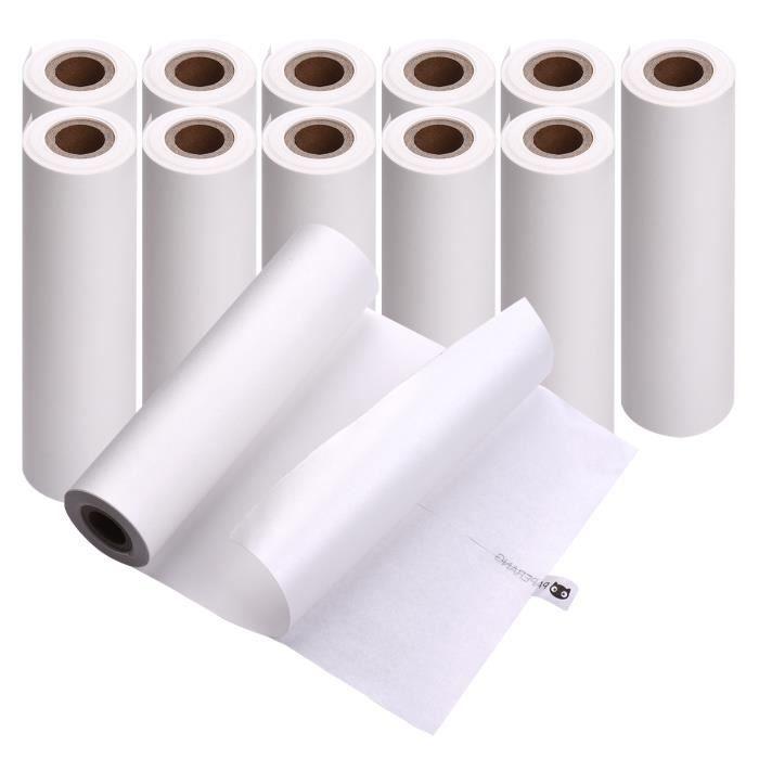 PAPERANG 12 rouleaux 111x30mm papier thermique Auto-adhésif Papier collant Sans BPA pour imprimante thermique PAPERANG C1