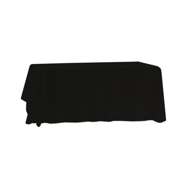 Lot de 10 NOIR Nappe en polyester rectangulaire 150cm x 255cm