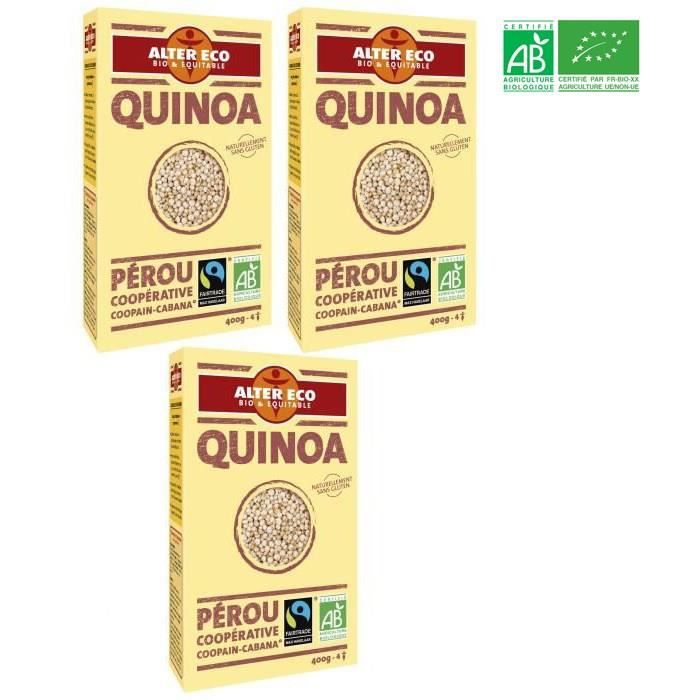 [LOT DE 3] ALTER ECO Quinoa Bio 400g