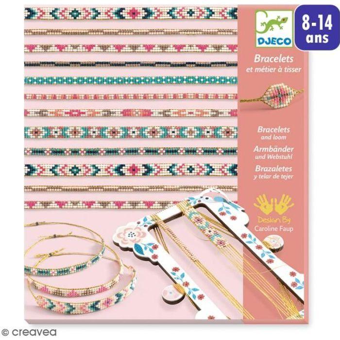 Djeco Kit créatif - Bracelet et métier à tisser