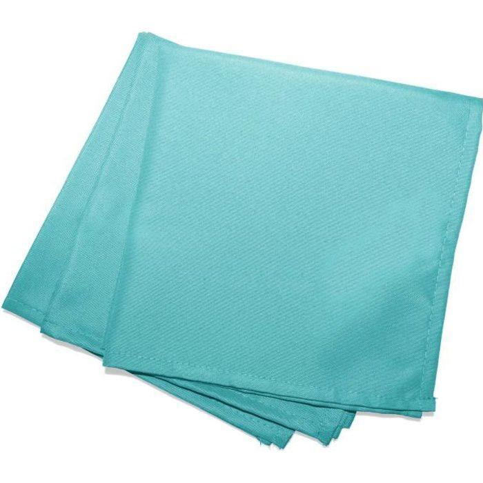 CDaffaires Serviettes de table -3 40 x 40 cm polyester uni essentiel Menthe