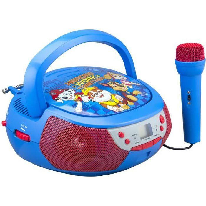 PAT PATROUILLE Lecteur CD Boombox avec un microphone enfant
