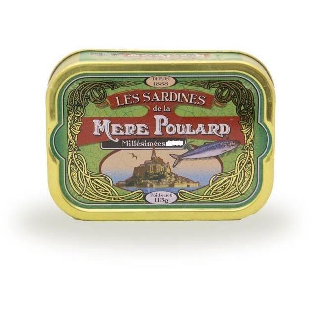 Biscuiterie la Mère Poulard Sardines Millésimées A L'Huile D'Olive (Vert) 115g