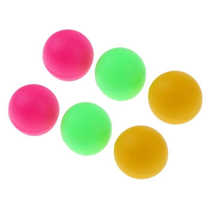 Lot de 6pcs Balles De Tennis De Table / Ping Pong / Beer Pong - Coloré Coloré A