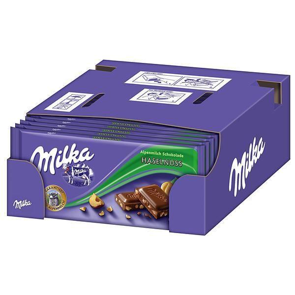 Milka Noisettes Chocolat 20 x 100g