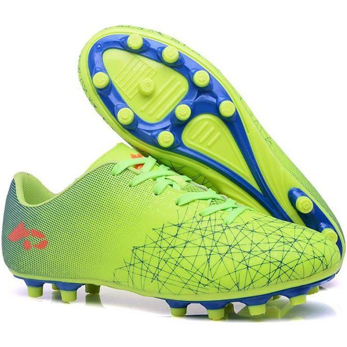 Chaussures de Football Homme Crampon Foot Profession Athlétisme Chaussure de Foot Antidérapant pour garçon