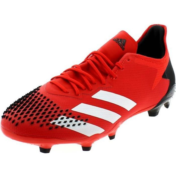 ADIDAS PREDATOR 20.2 FG CHAUSSURES DE FOOTBALL POUR HOMME ROUGE EE9553