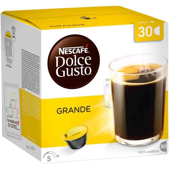 NESCAFE Café Dolce Gulto Grande Family pack - 100% Arabica - 30 capsules -Boisson de 200ml