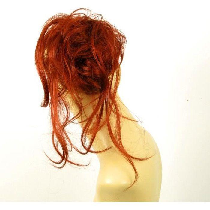 postiche chouchou cheveux cuivré intense ref: 22 en 350