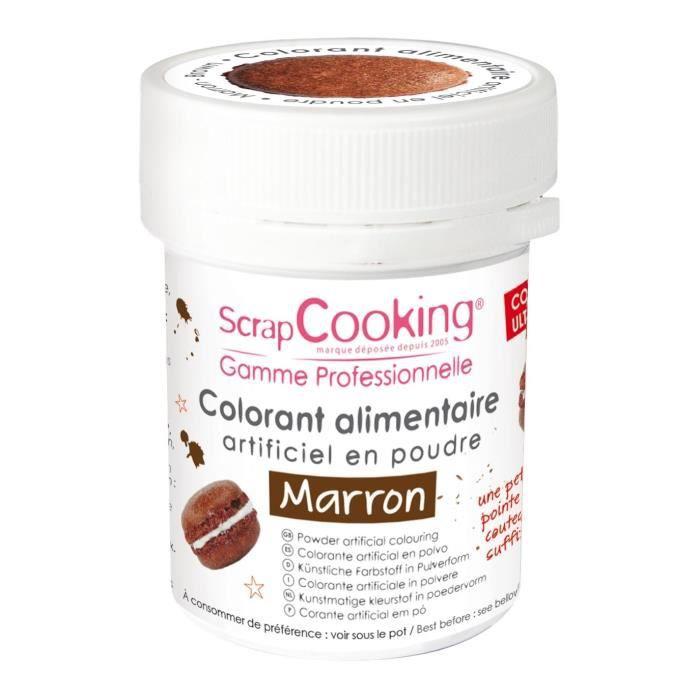 Colorant alimentaire (artificiel) - Marron - Scrapcooking