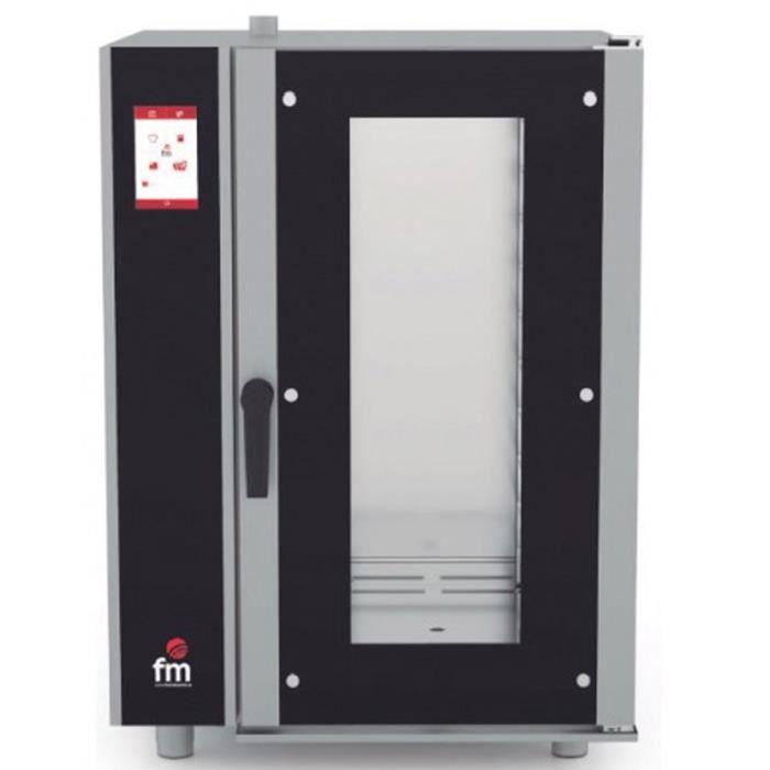 Four mixte à injection (vapeur + air pulsé) GN 1-1 à écran tactile - L725 x P815 x H1020 mm -FM