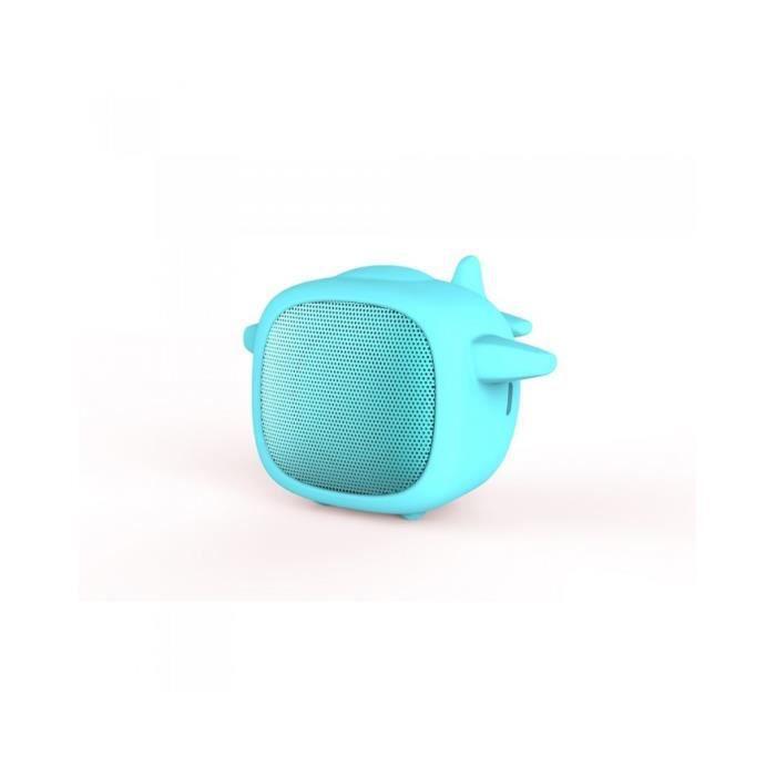 Pack enceinte Bluetooth garçon 2 coques interchangeable dino/avion - WEKENCPACKDA Bleu