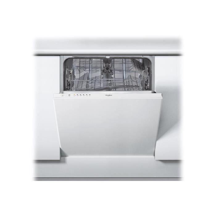 Whirlpool WRIE 2B19 Lave-vaisselle intégrable Niche largeur : 60 cm profondeur : 57 cm hauteur : 82 cm blanc