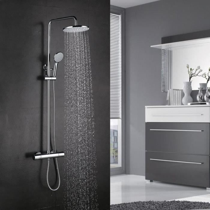 colonne de douche avec mitigeur thermostatique achat. Black Bedroom Furniture Sets. Home Design Ideas
