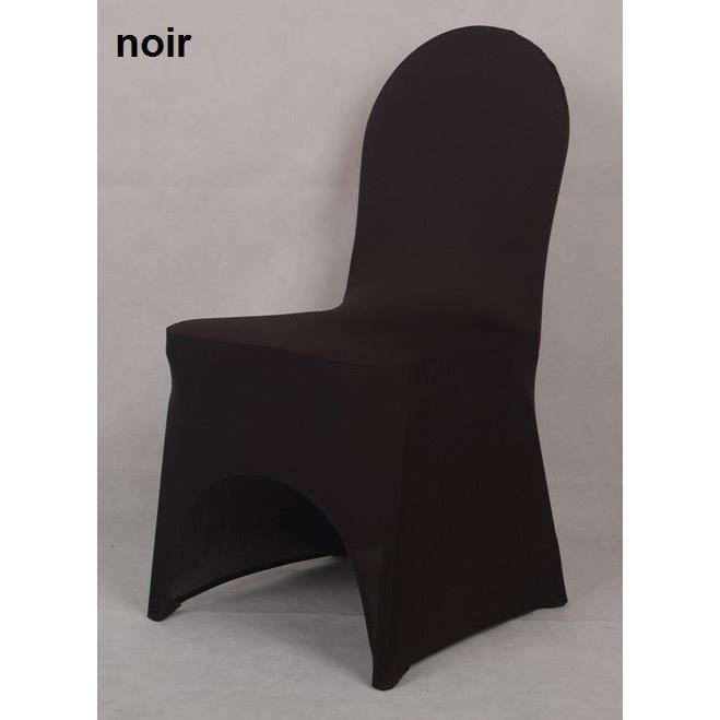 housse de chaise en lycra spandex noir achat vente housse de chaise soldes d s le 10. Black Bedroom Furniture Sets. Home Design Ideas