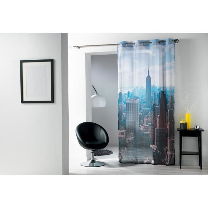 rideaux voile 140x240 cm oeillets new york ph achat vente rideau voilage 100 polyester. Black Bedroom Furniture Sets. Home Design Ideas