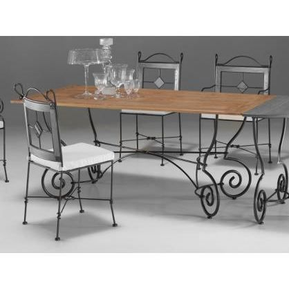 mobilier table table fer et bois salle manger. Black Bedroom Furniture Sets. Home Design Ideas